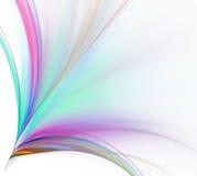 biel tła abstrakcyjne Kolorowy wybuch tęcza lampasy ilustracji