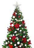 2010 biel tła bożych narodzeń Grudzień szczegół odizolowywający nad fotografia brać drzewnym biel Obraz Royalty Free