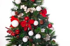 2010 biel tła bożych narodzeń Grudzień szczegół odizolowywający nad fotografia brać drzewnym biel Obrazy Royalty Free
