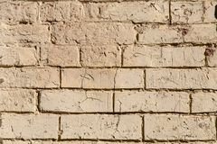 Biel tekstury ścienny tło dla Starego białego ściana z cegieł szorstkiej powierzchni obrazy royalty free
