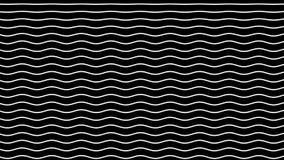 Biel wyginać się linie ruszają się up na czarnym tle ilustracja wektor