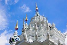 Biel z gadką na wierzchołku na niebieskiego nieba tle Obraz Royalty Free
