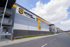 BIELANY,波兰- 2016年5月04日:稀土新打开的仓库  免版税库存图片