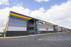 BIELANY, POLAND - MAY 04, 2016: The newly opened warehouse of re Stock Images