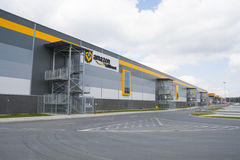 BIELANY, POLAND - MAY 04, 2016: The newly opened warehouse of re Stock Photos