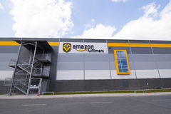 BIELANY, POLAND - MAY 04, 2016: The newly opened warehouse of re Stock Photo