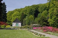 Bielefeld, half-timbered house, Germany. Bielefeld, half-timbered house in the botanic garden, North Rhine-Westphalia, Germany, Europe Royalty Free Stock Photos