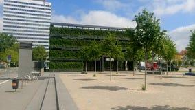 Bielefeld Kesselbrink zieleni sześcian Zdjęcia Royalty Free