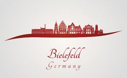 Bielefeld skyline in red Stock Photography