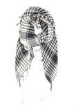 Bieliźniany szalik w czarny i biały klatce Fotografia Stock