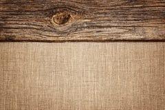 Bieliźniany tło z drewnianą deski teksturą, winietą i Fotografia Royalty Free