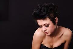 bielizna ciemny z włosami model fotografia stock