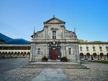 BIELLA, ITALIË - AUGUSTUS 3, 2017: Heiligdom van Oropa, Biella, Italië stock fotografie
