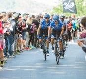BIELLA, ITALIË - MEI 20, 2017: De fietsers nemen aan 14de s deel Royalty-vrije Stock Foto's