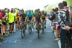 BIELLA, ITALIË - MEI 20, 2017: De fietsers nemen aan 14de s deel Royalty-vrije Stock Afbeelding