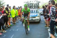 BIELLA, ITALIË - MEI 20, 2017: De fietsers nemen aan 14de s deel Royalty-vrije Stock Foto