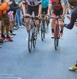 BIELLA, ITALIË - MEI 20, 2017: De fietsers nemen aan 14de s deel Stock Afbeelding