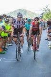 BIELLA, ITALIË - MEI 20, 2017: De fietsers nemen aan 14de s deel Stock Foto