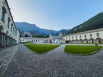 BIELLA, ITALIA - 3 AGOSTO 2017: Santuario di Oropa, Biella, Italia fotografia stock