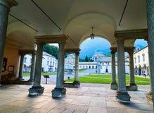 BIELLA, ITALIA - 3 AGOSTO 2017: Santuario di Oropa, Biella, Italia fotografie stock libere da diritti