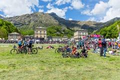 BIELLA ITALIEN - MAJ 20, 2017: 14th etapp av ` Italia Castel för Postgirot D Royaltyfria Bilder