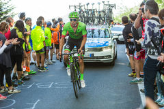 BIELLA, ITALY - MAY 20, 2017: Cyclists participate in the 14th s Royalty Free Stock Photo