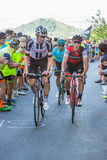 BIELLA, ITALY - MAY 20, 2017: Cyclists participate in the 14th s Stock Photo