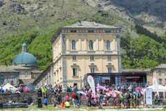 BIELLA, ITALY - MAY 20, 2017: 14th stage of Giro d`Italia Castel Stock Photography