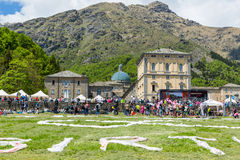 BIELLA, ITALY - MAY 20, 2017: 14th stage of Giro d`Italia Castel Stock Photo