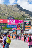 BIELLA, ITALY - MAY 20, 2017: 14th stage of Giro d`Italia Castel Royalty Free Stock Photo