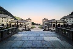 BIELLA WŁOCHY, SIERPIEŃ, - 3, 2017: Sanktuarium Oropa, Biella, Włochy Obrazy Stock