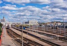 ` Bielorrússia de Minsk-Passazhirsky do ` da estação de trem, Minsk imagem de stock