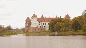 Bielorrusia, castillo de Mirsky Imágenes de archivo libres de regalías