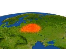 Bielorrusia en rojo de la órbita ilustración del vector