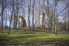 Bielorrusia, Logoysk: el estado arruina Tyshkevichey Fotos de archivo libres de regalías