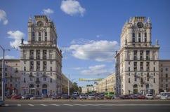 Bielorrusia, Minsk: Puerta de Minsk Fotos de archivo
