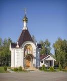 Bielorrusia, Minsk, Tarasovo: iglesia ortodoxa de la natividad - una capilla Imágenes de archivo libres de regalías