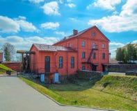 Bielorrusia, Orsha - 11 de abril de 2017: El molino de agua viejo Mlyn Imagen de archivo