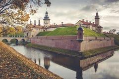 Bielorrusia, un castillo antiguo en Nesvizh Imagen de archivo libre de regalías