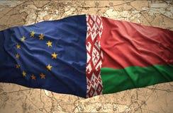 Bielorrusia y unión europea stock de ilustración