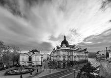 Bielsko-Biala黑白foto  免版税库存照片