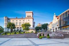 Bielsko-Biala Polen, Sulkowski slottbyggnad royaltyfri bild