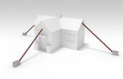 Bielu dom w łańcuchu Obrazy Stock