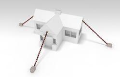 Bielu dom w łańcuchu ilustracja wektor