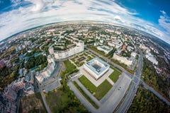 Bielu dom w Vladimir, Rosja Obraz Royalty Free