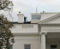 Bielu dom, Waszyngton, DC Ochraniający tajną służbą obrazy royalty free