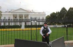 Bielu dom, Waszyngton, DC Ochraniający tajną służbą zdjęcie royalty free