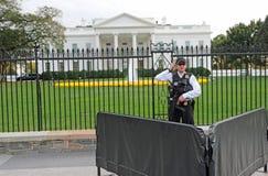 Bielu dom, Waszyngton, DC Ochraniający tajną służbą zdjęcia royalty free