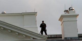 Bielu dom, Waszyngton, DC Ochraniający tajną służbą zdjęcia stock