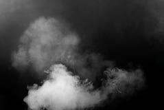 Bielu dym odizolowywający na czarnym tle Fotografia Stock